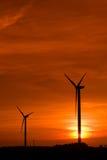 Gare d'énergie éolienne Photo libre de droits