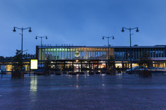 Gare d`Arras - railway station at evening Royalty Free Stock Photography