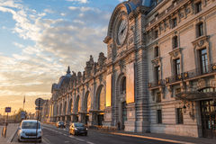 Gare d'Orsay bei Sonnenaufgang, Paris, Frankreich Lizenzfreies Stockfoto