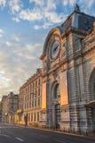 Gare d'Orsay no nascer do sol, Paris, França imagens de stock royalty free