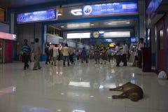 Gare de Churchgate dans Mumbai Photographie stock