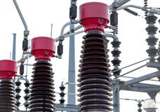 Gare de courant électrique Image libre de droits