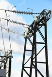 Gare de courant électrique Images libres de droits