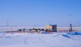 Gare de dosage de gaz naturel et en-tête de soupape Photos libres de droits