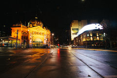 Gare de Flinders, Melbourne Photographie stock