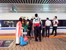 gare de grande vitesse de Wuhan Photographie stock