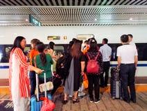 gare de grande vitesse de Wuhan Images libres de droits