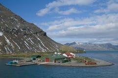 Gare de Grytviken - la Géorgie du sud Photographie stock