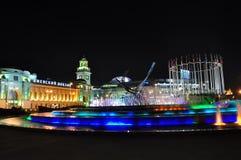 Gare de Kiev et viol de fontaine de l'Europe Photos stock