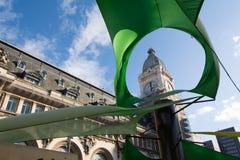 Gare de Lyon dietro il tettuccio apribile verde Fotografia Stock