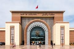 Gare de Marrakech drevstation Marrakech, Marocko Arkivbilder