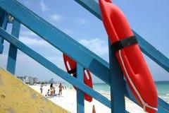 Gare de maître nageur, Miami Beach Images libres de droits