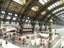 Gare de Milan Centrale Image libre de droits