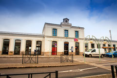 Gare de Morlaix is a railway station serving the town Morlaix,france Royalty Free Stock Photo