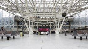 Gare De Nord火车站内部看法  免版税库存照片