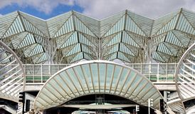 gare de Oriente火车站,里斯本,葡萄牙 免版税图库摄影
