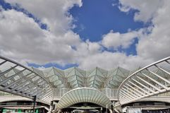 Gare de Oriente σιδηροδρομικός σταθμός, Λισσαβώνα Στοκ φωτογραφία με δικαίωμα ελεύθερης χρήσης