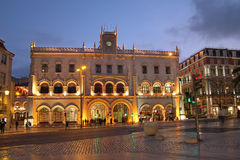 Gare de Rossio, Lisbonne, Portugal Photographie stock libre de droits