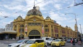 Gare de rue de Flinders, Melbourne, Australie Images libres de droits