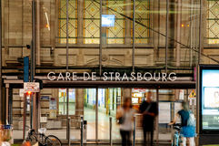 Gare de Strasbourg Arkivbilder