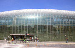 Gare de Strasbourg, den huvudsakliga järnvägsstationen av den Strasbourg staden Royaltyfri Fotografi