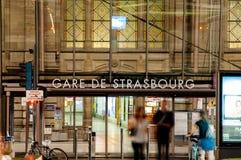 Gare de Strasburgo Immagini Stock