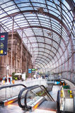 Gare de Strasburgo, la stazione ferroviaria principale della città di Strasburgo, Fotografie Stock Libere da Diritti