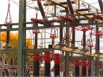 Gare de transformateur Photo libre de droits