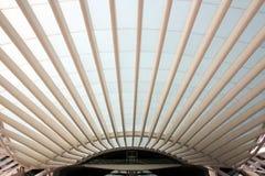 Gare do Oriente - η Λισσαβώνα προσανατολίζει το σταθμό Στοκ εικόνα με δικαίωμα ελεύθερης χρήσης