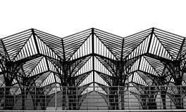 Gare do Oriente Λισσαβώνα σύγχρονος σταθμός τρένου αρχιτεκτονικής πλημνών μεταφορών Στοκ φωτογραφία με δικαίωμα ελεύθερης χρήσης