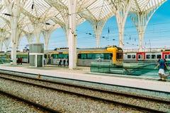 Gare do Oriente of de Post van Lissabon Oriente Royalty-vrije Stock Afbeelding