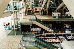 Gare do Oriente of de Post van Lissabon Oriente Stock Fotografie