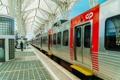 Gare do Oriente of de Post van Lissabon Oriente Royalty-vrije Stock Afbeeldingen