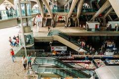 Gare do Oriente of de Post van Lissabon Oriente Stock Afbeelding