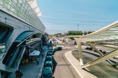 Gare do Oriente of de Post van Lissabon Oriente Stock Afbeeldingen