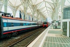 Gare do Oriente of de Post van Lissabon Oriente Stock Foto