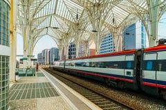 Gare do Oriente of de Post van Lissabon Oriente Stock Foto's