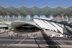 Gare do Oriente in Lissabon Royalty-vrije Stock Foto