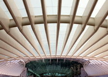 Gare do Oriente - Lissabon oriënteert Post Stock Foto