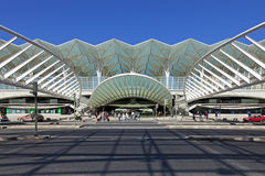Gare do Oriente - Park of Nations - Lisbon. Lisbon, Portugal - August 02, 2013: Gare do Oriente (Orient Station), a public transport hub designed by the famous Stock Photos