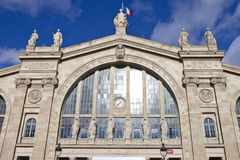 Gare du Nord在巴黎 库存照片