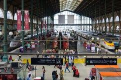 Gare du Nord en París Foto de archivo libre de regalías