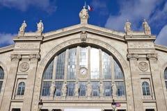 Gare du Nord i Paris Arkivfoto
