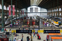 Gare du Nord a Parigi Fotografia Stock Libera da Diritti