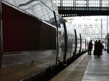 Gare du Nord in Paris. Train waiting in the north Paris train station royalty free stock images