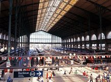 Gare du Nord Railway Station, Paris. Royalty Free Stock Photo