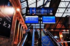 Gare Du Nord stacja, PARYŻ, FRANCJA obrazy stock