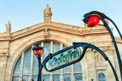 Gare du Nord subway Stock Photography