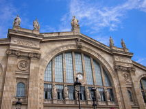 Gare du Nord train station. In Paris Royalty Free Stock Image