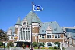 Gare du Palais, det Quebec City drevet posterar, Kanada Royaltyfri Bild